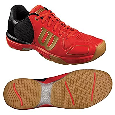 WILSON Vertex Unisex Squash Shoe, Red/Black, US6.5