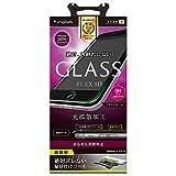 Simplism iPhone7 Plus フィルム [FLEX 3D] 反射防止 立体成型フレームガラスフィルム ブラック  TR-GLIP165-F3AGBK