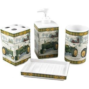 john deere 4 piece tractor ceramic bath