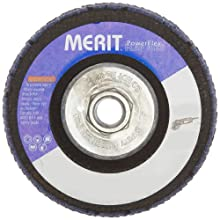"Merit Flap Disc, Type 29, , 5/8""-11 Arbor, Zirconia Alumina, 4-1/2"" Diameter, Grit 60  (Pack of 10)"