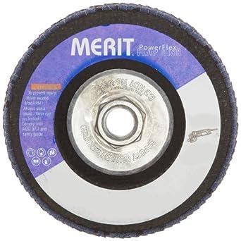 """Merit Flap Disc, Type 29, , 5/8""""-11 Arbor, Zirconia Alumina, 4-1/2"""" Diameter, Grit 60  (Pack of 10)"""