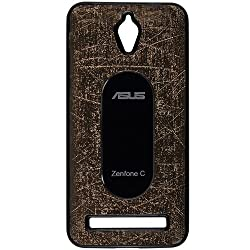 Casotec Metal Back TPU Back Case Cover for Asus Zenfone C ZC451CG - Brown