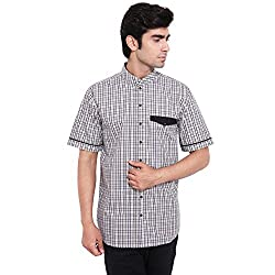 Fbbic Up to date Black Men's Checkered Shirt(Size::XL)