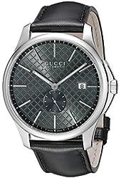Gucci Men's YA126319 G-Timeless Analog Display Swiss Automatic Black Watch