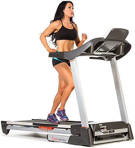 Treadmill w/ MP3, Portable, Folds and Large Console Display by Sunny Health & Fitness - SF-T7513 (Console For Treadmill compare prices)