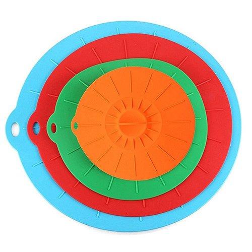 G2Plus 4-è bello Set coperchio dai colori vivaci in silicone coperchio ideale per pentole, ciotole, tazze, Deckel