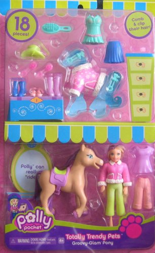 Polly Pocket - Groovy Glam Pony Totally Trendy Pets (2006) - Buy Polly Pocket - Groovy Glam Pony Totally Trendy Pets (2006) - Purchase Polly Pocket - Groovy Glam Pony Totally Trendy Pets (2006) (Groovy-Glam Pony, Totally Trendy Pets, Toys & Games,Categories,Dolls,Playsets)