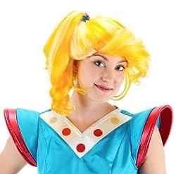 Rainbow Bright Wig 80s Cartoon Rainbow Brite Costume Wig - One Size from Crazy Dog Tshirts