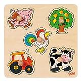 Steckpuzzle Auf dem Land, gok GOKI 57546 hergestellt von Gollnest & Kiesel