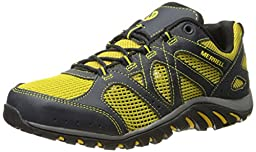 Merrell Men\'s Rockbit Cove Hiking Water Shoe, Navy/Yellow, 11 M US
