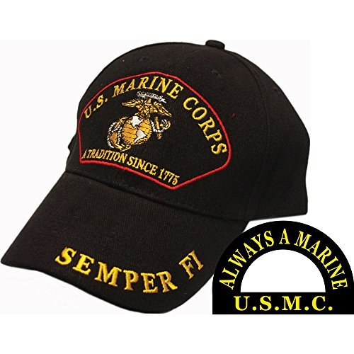 us-marine-corps-a-tradition-since-1775-semper-fi-hat-black