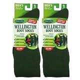 2x Mens UK Size 7-11 David James Wellington Boot Socks Light Green