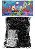 Official Rainbow Loom 600 Black Refill Bands w/ C Clips