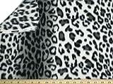 LA Linen ™ Printed Polar Fleece by the yard 58/60-Inches Wide, Leopard