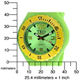 TKO ORLOGI Women's TK595GR Beach Lightweight Green Rubber Watch