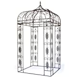 XXL Pavillon Creso Pergola Laube Gartenpavillon Metall eckig H 310 cm