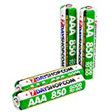 "7dayshop ""GOOD TO GO"" Pre-Charged Rechargeable AAA (HR03 / MN2400) NiMh Batteries (850mAh) - 4 Packby 7dayshop"