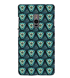 Printvisa Green Marbles Pattern Back Case Cover for One Plus Two::One Plus 2::One+2