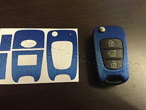 pantalla-de-carbono-decoracion-azul-cepillado-llave-dekor-carbon-optik-kia-sportage-sorento-picanto-