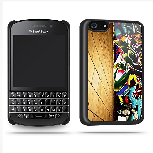 Graffiti Wall Cover Cool Retro Quirky Phone Case Shell For Blackberry Q10 - Black