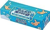 驚異の防臭袋 BOS (ボス) うんちが臭わない袋 Lサイズ大容量90枚入 ペット用うんち処理袋【袋カラー:ブルー】 ペットシーツの処理に最適です!