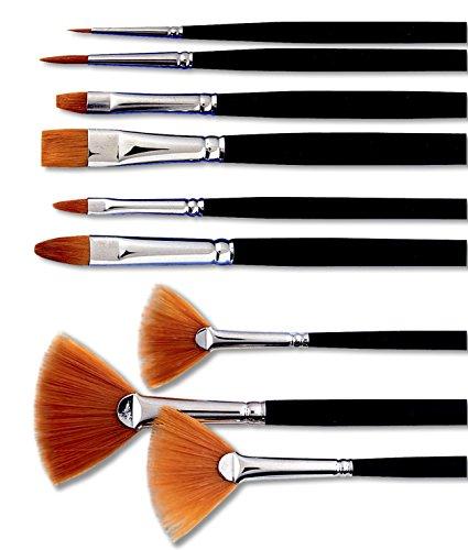 Sax Golden Taklon Artist Filbert Brush - Size 10