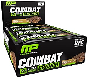 Muscle Pharm Combat Crunch Supplement, Chocolate Peanut Butter Cup, 2.22oz.- 12 Count