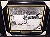 BOBBY ORR THE GOAL AUTOGRAPHED 16X20 FRAMED PHOTO BOSTON BRUINS 1970 STANLEY CUP