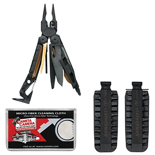 Leatherman Mut 850122 Tactical Multi-Tool With Sheath (Black) With 42 Bit Kit + Cleaning Cloth front-277580