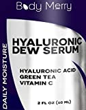 Hyaluronic Acid Serum - Best Anti-Aging Serum for Face - 2 FL OZ - With Vitamin C, Green Tea, Jojoba Oil - Natural & Organic Formula For Wrinkles, Lines, Dry Skin and Discoloration - Body Merry