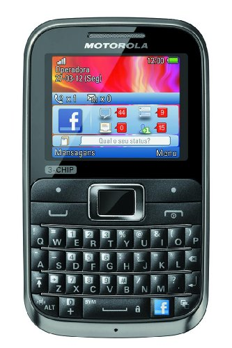Link to Motorola MOTOKEY EX117 3-Chip Unlocked GSM Phone with QWERTY Keypad, 2 MP Camera, Dedicated Facebook Button and microSD Slot – Brown/Black On Sale
