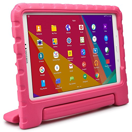 Samsung Galaxy Tab A 10.1 kids case, COOPER DYNAMO Rugged Heavy Duty Children's Boys Girls Toy Drop Proof Protective Carry Case Cover Handle, Stand, Screen Protector SM-T580 T585 P580 P585 Pink (Old Book Case For Samsung Tablet compare prices)