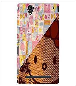 PrintDhaba Abstract Image D-4910 Back Case Cover for SONY XPERIA T2 ULTRA (Multi-Coloured)