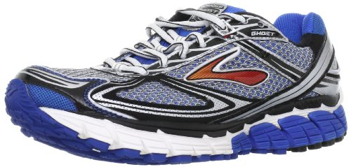 Brooks Men's Ghost 5 M Blue/Black/Silver/Red Trainer 1101191D068 9.5 UK, 10.5 US