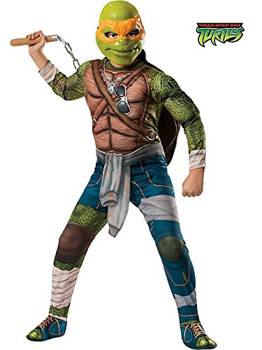 Rubies Teenage Mutant Ninja Turtles Deluxe Muscle-Chest Michelangelo Costume