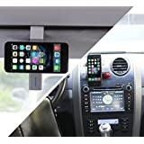 SOONHUA 2 in 1 Portable Adjustable Car Air Vent Mount Phone Holder/ Sun Visor Mount Holder For Mobile Cell Phone iPhone 6plus 5s 5c 4s Samsung Galaxy S6 S5 S4 S3 Nokia HTC Blackberry LG