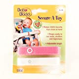Baby Buddy Secure-A-Toy, Pink/White $3.99
