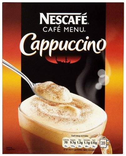 Nescafé Cappuccino 20 Sachets (Pack of 6, Total 120 sachets)