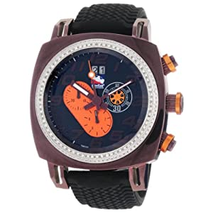 Ritmo Mundo Men's D221/2 BRN Orange Diamond Indycar Sport Quartz Chronograph Watch