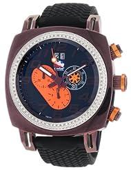 Ritmo Mundo Men's D221/2 BRN Orange Diamond Indycar Sport Quartz Chronograph Watch