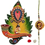 Combo Of Laddu Gopal Designed Key Holder & Designer Rakhi