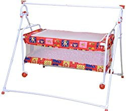 Mothertouch Baby Cradle Cum Cot (Red)