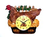 Hen Clock Hen Eggs Design Wall Clock Kitchen Clock