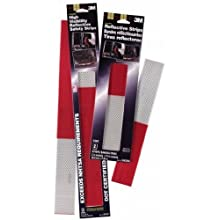 3M Scotchlite High Visibility Reflective Strips, Red and White, 2-Inch by 18-Inch