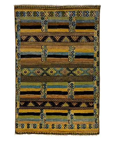 """Solo Rugs Kaitag Oriental Rug, Gold, 5' 10"""" x 8' 10"""""""