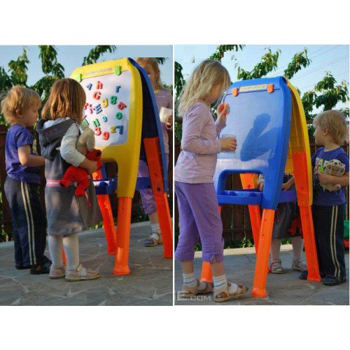 First Classroom Deluxe Double Art Easel with Three Adjustable Heights