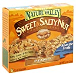 Sweet and Salty Nature Valley Nut Granola 18 BARS, Peanut, 6-Count Boxes (Pack of 3)