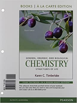 Organic edition general 4th chemistry biological and timberlake PDF