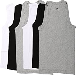 Macroman Mens Cotton Vest (Pack Of 6) - Medium