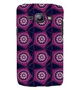 Printvisa Maroon Pentagon Pattern Back Case Cover for Samsung Galaxy J2::Samsung Galaxy J2 J200F